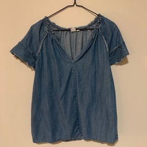 Short sleeved jean blouse from GAP